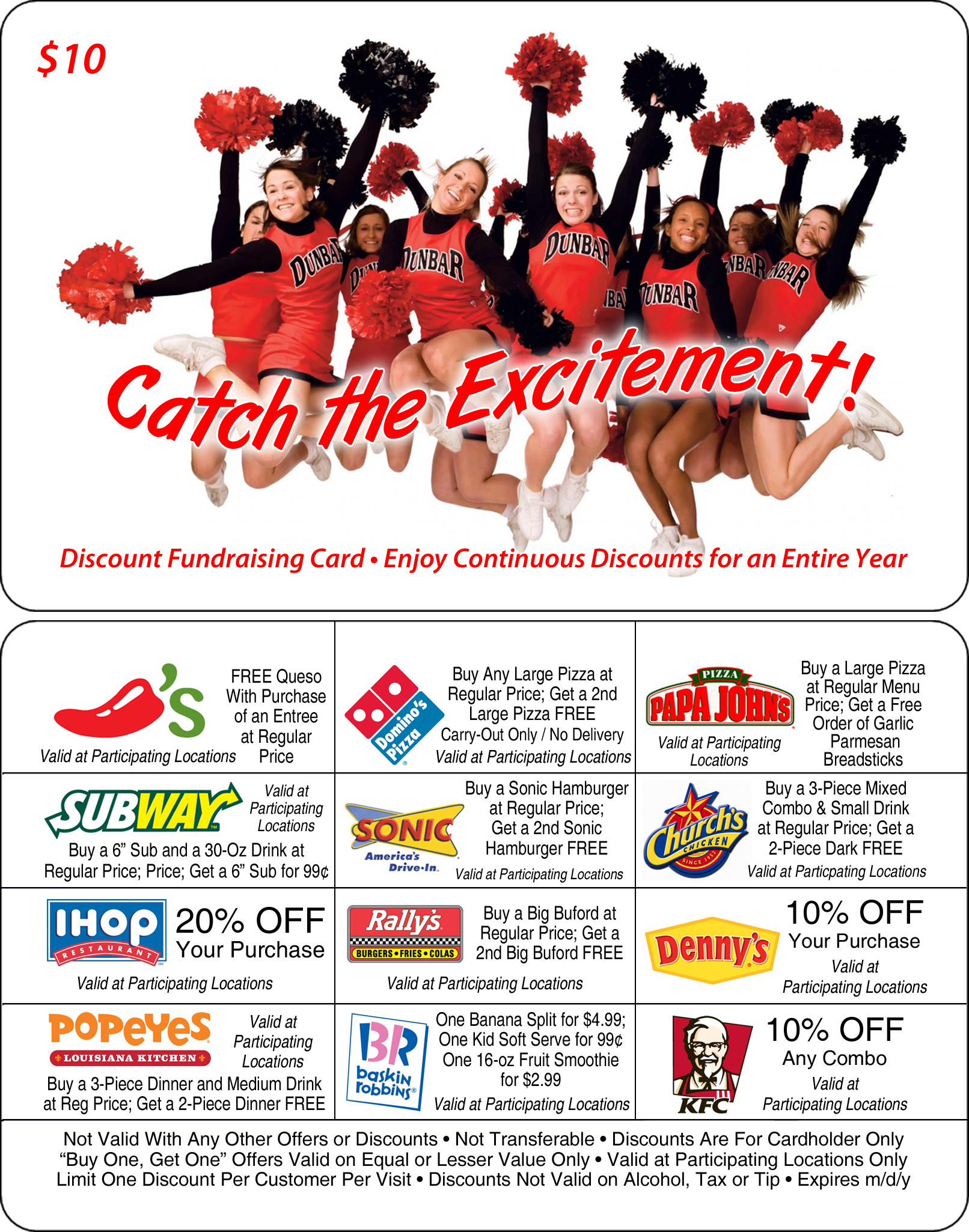 Cheerleading Discount Card
