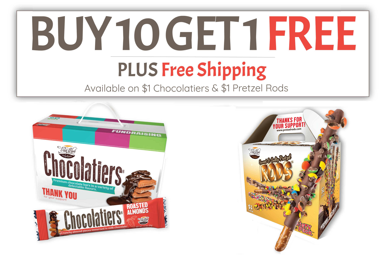 Chocolatiers Promotion & Pretzel Rods Promotion