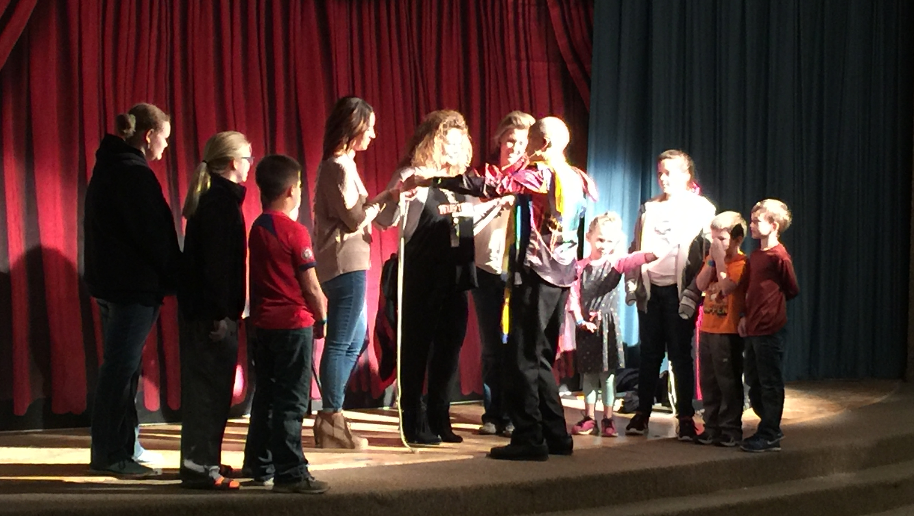 Greenwood Elementary School students enjoying magic show