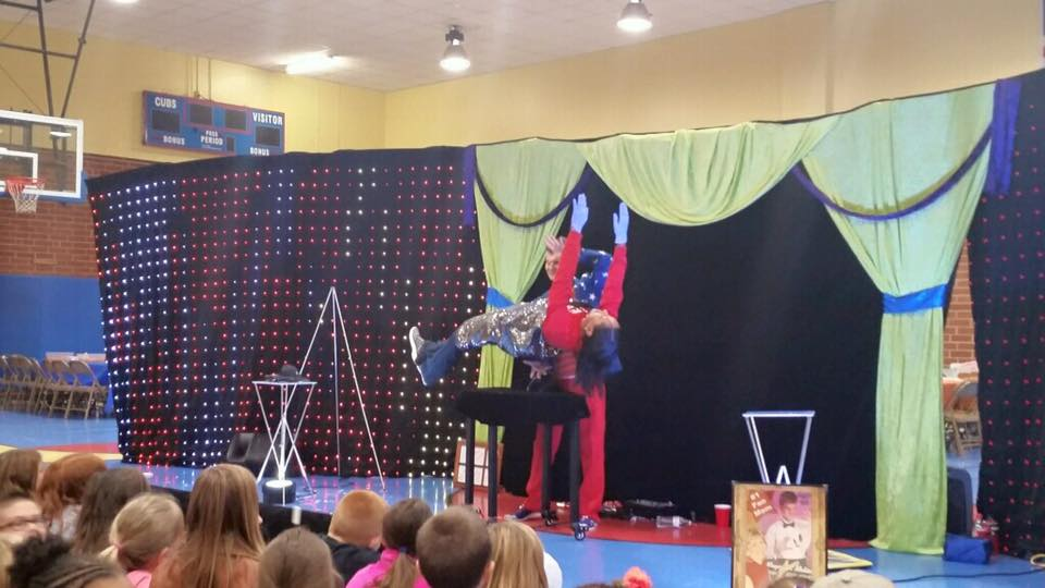 Prospect Elementary School students enjoying magic show