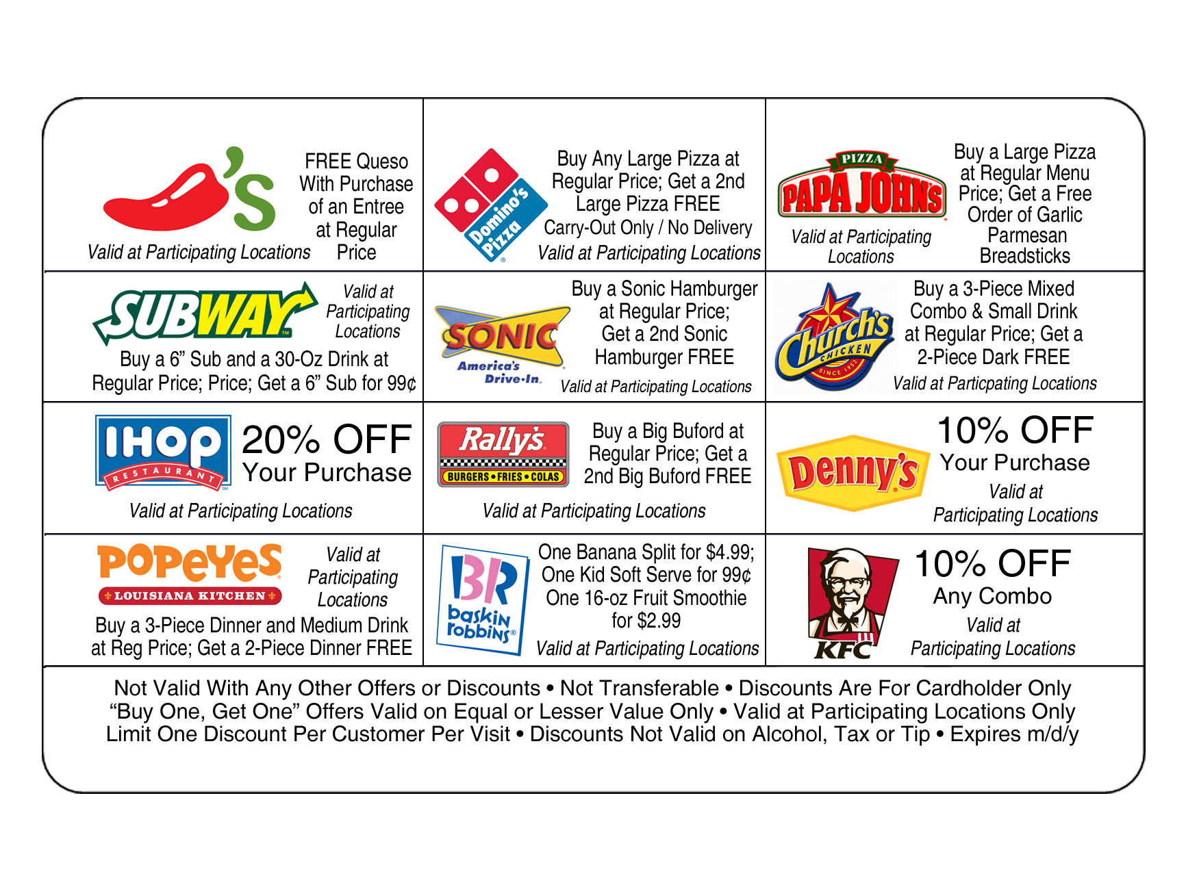 School fundraising discount card offers