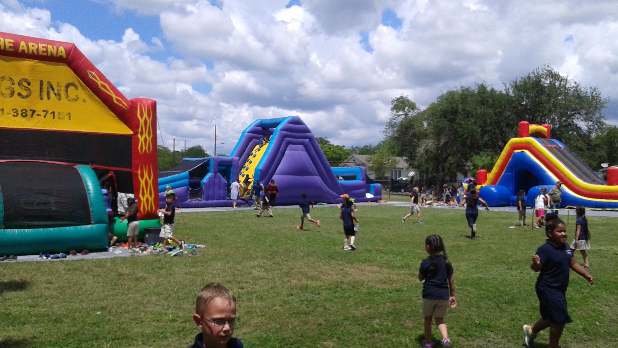 St. Mary's Charter School students enjoying super party