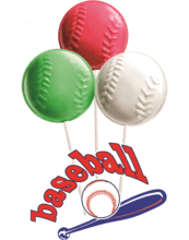 Baseball Lollipop Fundraising Product cc-022600