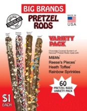 $1 Big Brands Pretzel Rods Fundraising Product gw-10001