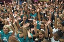 Elementary school kickoff assembly