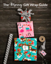 The Merry Gift Wrap Guide Brochure Fundraiser
