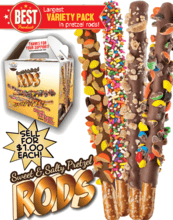 Super Variety Pack Pretzel Rods Fundraising Product vwc-71492