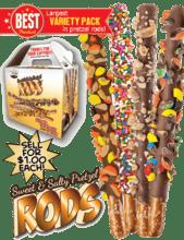 Super Variety Pack Pretzel Rods Fundraiser vwc-71492